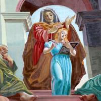 Szent Anna Szűz Máriával, Molnár C. Pál freskója, 1938 (Budapest, vízivárosi Szt. Anna templom) Thaler Tamás felvétele