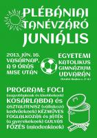 Plébániai tanévzáró juniális 2013.